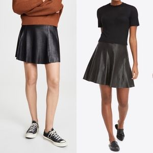 Faux Leather Skater Skirt Small